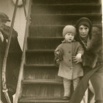 Germaine Bonnefont and Robert F. Brown en route to France in 1930 with their mysteriously obtained child, Babette.