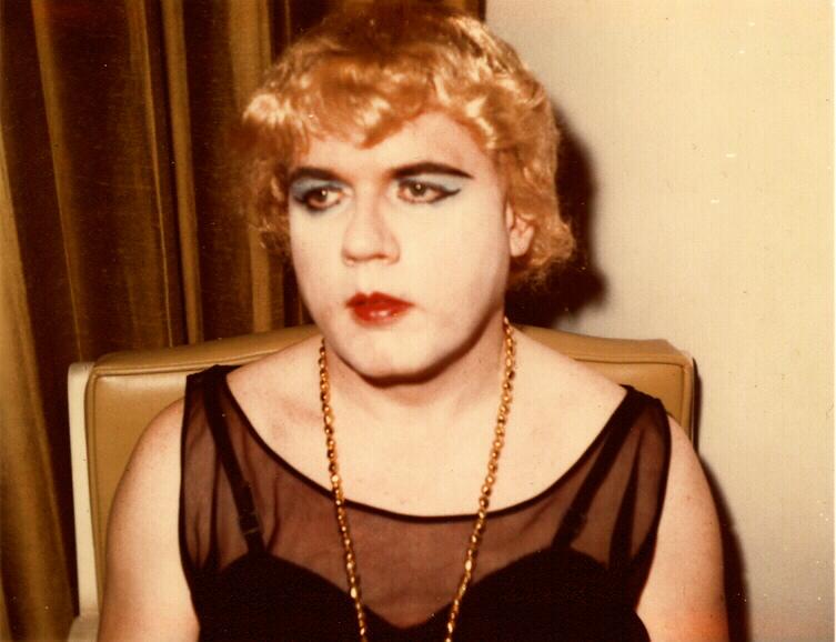 Albert Ellsworth in drag, early 1960s.
