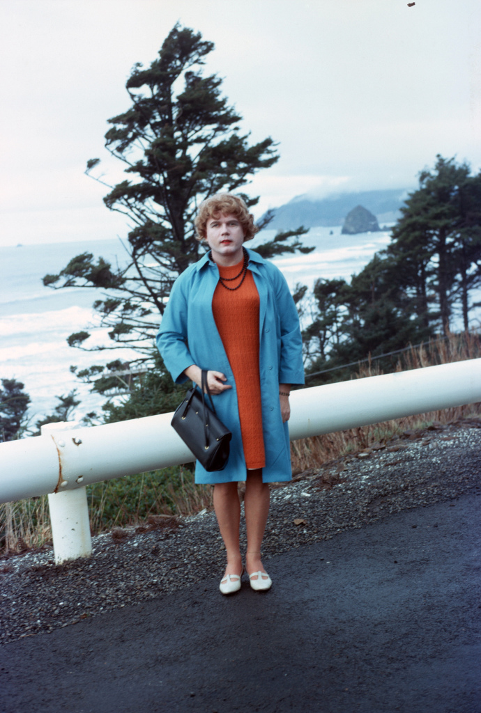 Babette out on the Oregon coast, mid 60s.