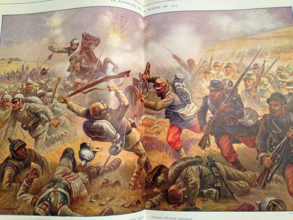 An idealized battle scene
